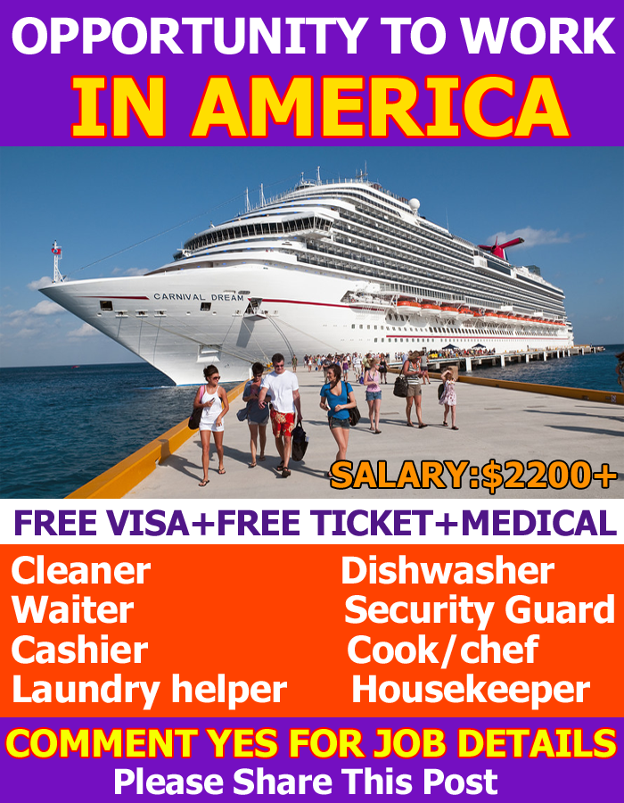 Cruise Ship Jobs In USA For Various Country Anyone Can Apply