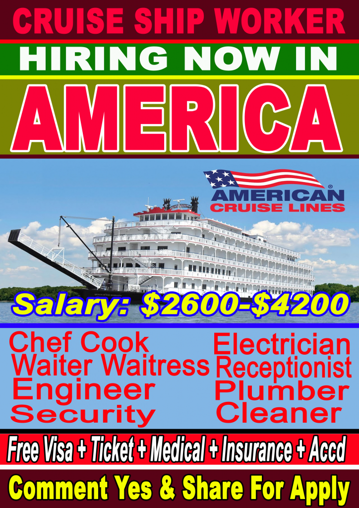Cruise Ship Worker Wanted In USA for verious country ...