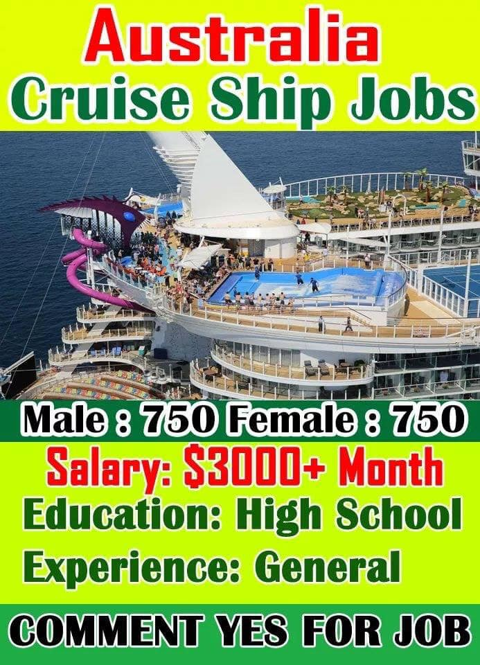 Cruise Ship Jobs In Australia For Verious Country Anyone