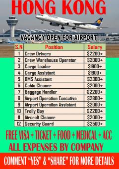 Vacancy In Hong Kong Airport