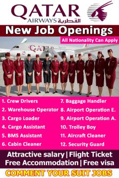 New Jobs Opening In Qatar Airways