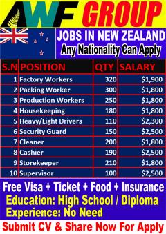 Multiple Jobs Open In New Zealand