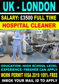 Hospital Cleaner Job In London