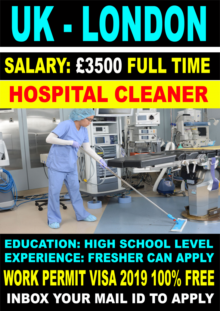 Hospital Cleaner Job In London