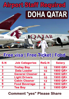 Airport Staff Required In Qatar