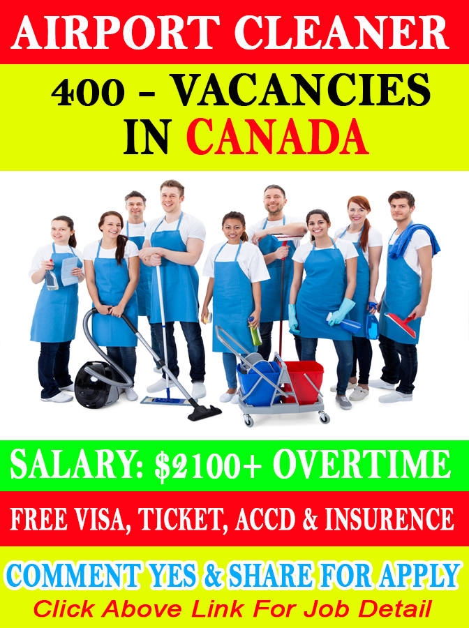 Airport Cleaner Jobs In Canada