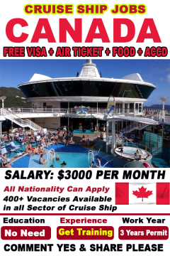 Cruise Ship Job In Canada