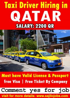 Taxi Drivers Jobs In Qatar