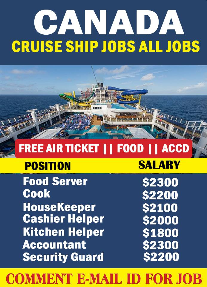 Cruise Line Jobs In Canada