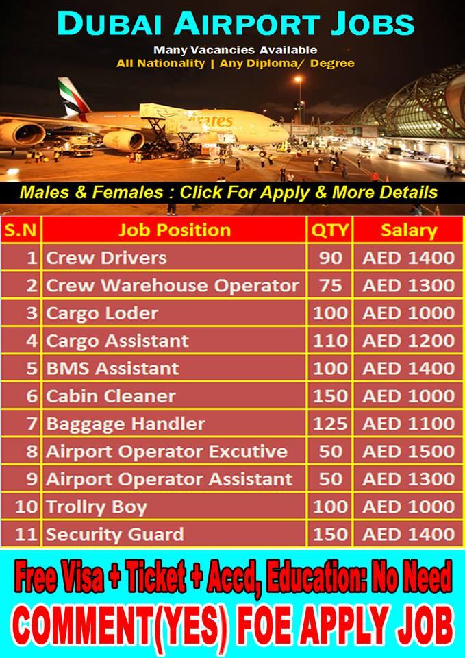Jobs In Dubai Airport