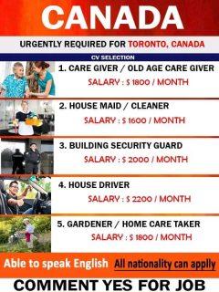 Urgent Jobs For Canada
