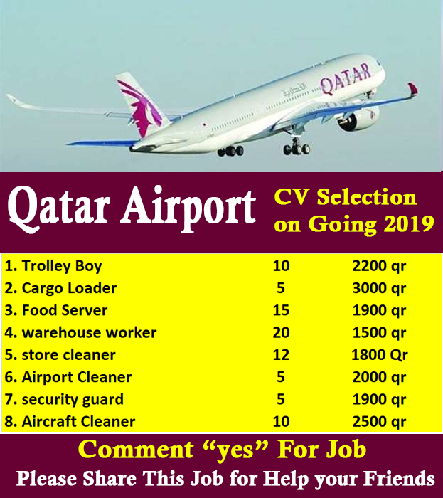 Latest Job In Qatar Airways
