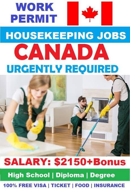 Housekeeping Job Vacancies In Canada