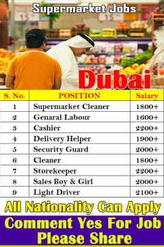 Supermarket Jobs Careers In Dubai