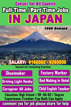 Latest Hiring Jobs In Japan