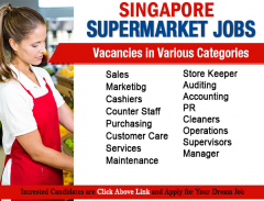 Supermarket Jobs Hiring In Singapore