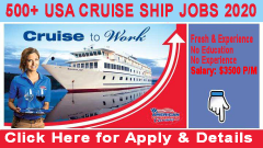 Cruise Ship Jobs In United State